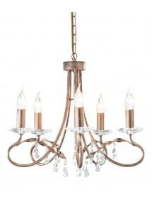 Urokliwy domowy żyrandol Christina 5lt - Elstead Lighting