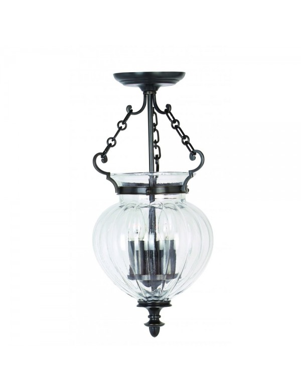 Stylowa wisząca lampa Finsbury Park I - Elstead Lighting
