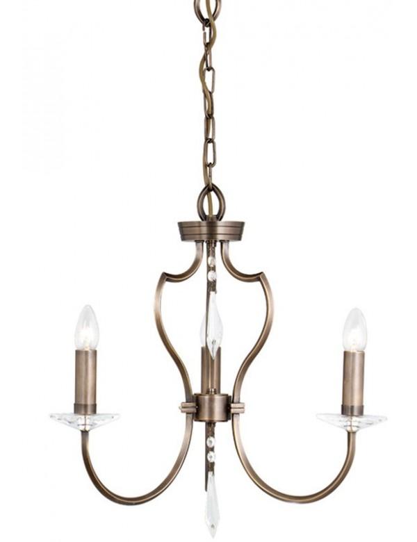 Czarujący klasyczny żyrandol Pimlico 3lt - Elstead Lighting