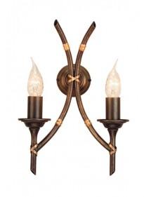 Niebywały kinkiet domowy Bamboo 2lt - Elstead Lighting