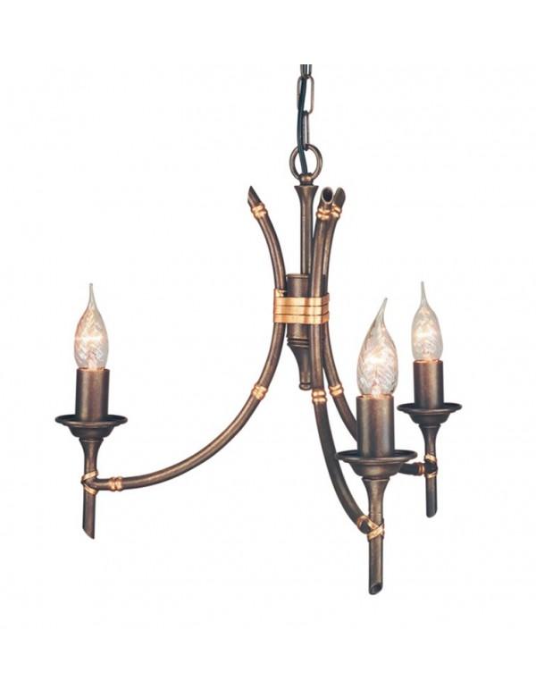 Finezyjny żyrandol pokojowy Bamboo 3lt - Elstead Lighting