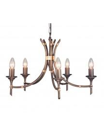 Imponujący żyrandol z pięcioma źródłami światła Bamboo 5lt - Elstead Lighting
