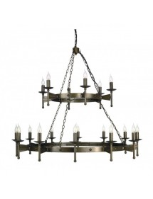 Nietuzinkowy żyrandol dwustopniowy Cromwell 18lt - Elstead Lighting