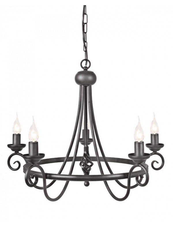 Imponujący żyrandol Harlech 5lt - Elstead Lighting