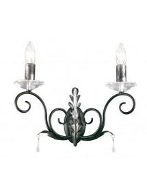 Czarny kinkiet ze srebrnymi wstawkami Amarilli AML2 BS - Elstead Lighting