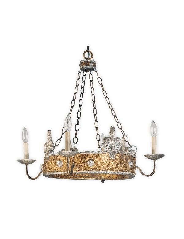 Wieloramienny żyrandol klasyczny Crown - Flambeau