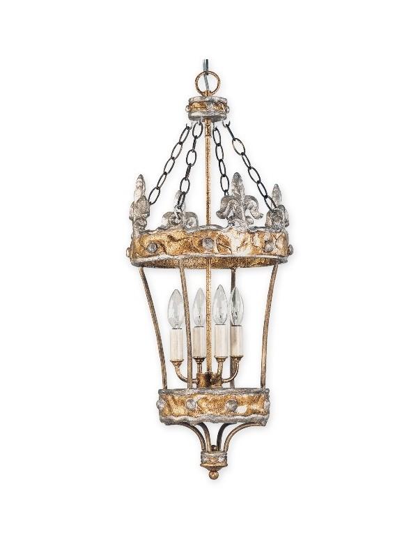 Imponująca lampa wisząca Crown - Flambeau