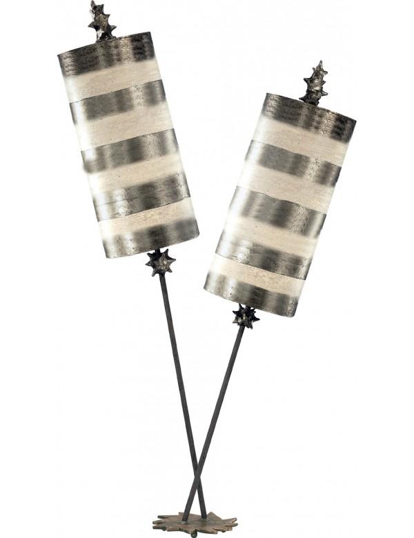 Elegancka lampa na stoliczek nocny Nettle Luxe Silver - Flambeau