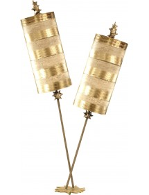 Stylowa lampa na stoliczek nocny Nettle Luxe Gold - Flambeau