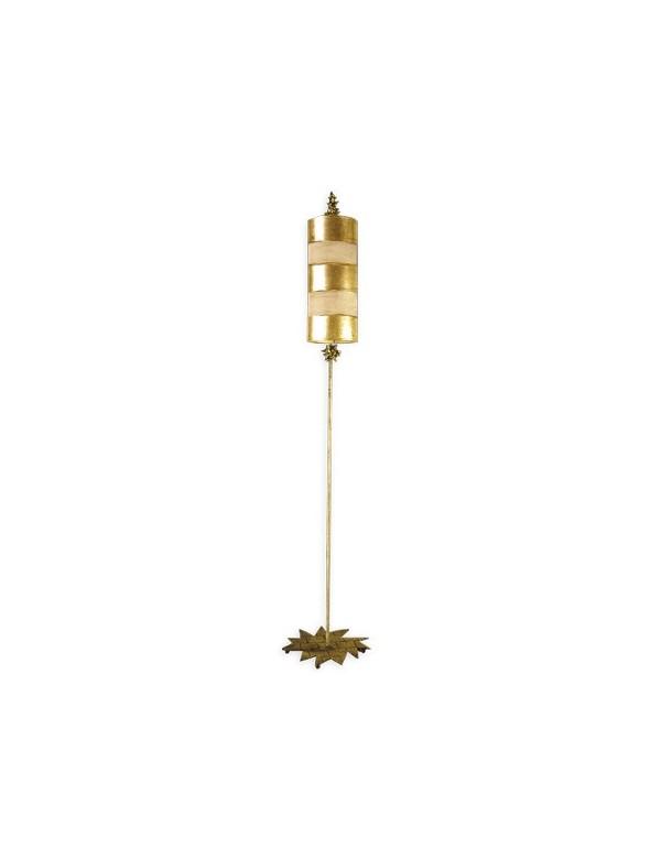 Atrakcyjna oprawa podłogowa Nettle Gold - Flambeau