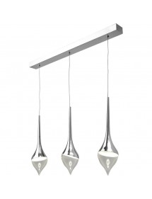 Trzy łezki - unikatowa lampa wisząca TEAR 3 Sompex
