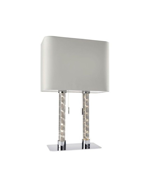 DOUBLE LS lampa stołowa z ozdobnym podświetleniem led - Sompex