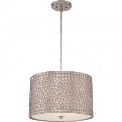 Metalowa lampa wisząca z dodatkowym abażurem CONFETTI M - Quoizel