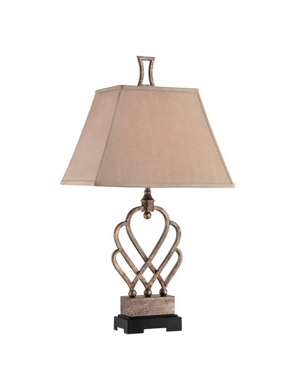 TRIHEART TLA lampa stołowa ze stylową, przeplataną podstawą - Quoizel