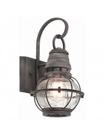 Kinkiet ogrodowy KL/BRIDGEPOINT/S stylizowany na starodawną lampę kolejową - Kichler