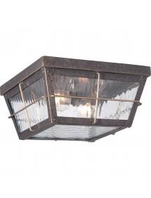 QZ/CORTLAND/F stylowy plafon ogrodowy ze szklanymi szybkami - Quoizel