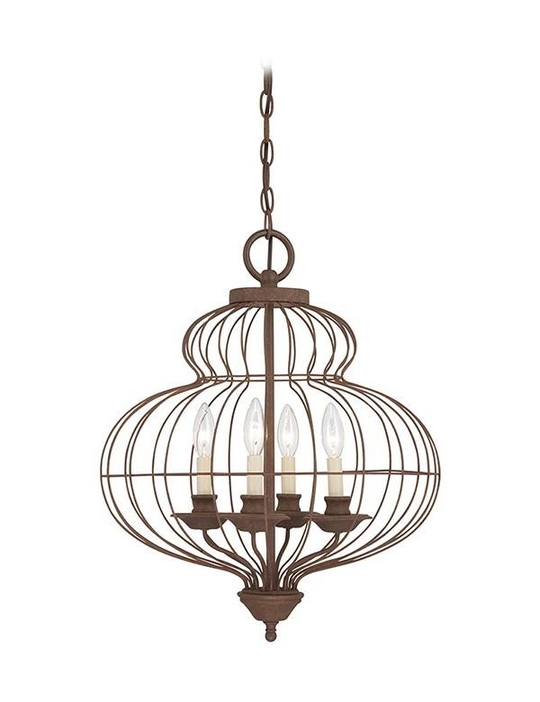 Świetnie skonstruowana lampa wisząca Laila 5204 - Quoizel