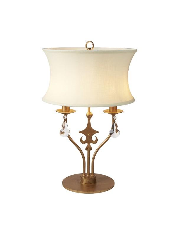 WINDSOR/TL stołowa lampa w kolorze złotej patyny - Elstead Lighting