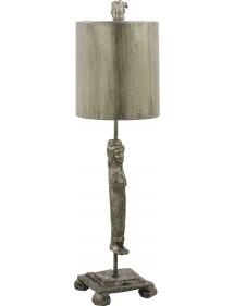 Atrakcyjna lampa stołowa Caryatid Silver - Flambeau