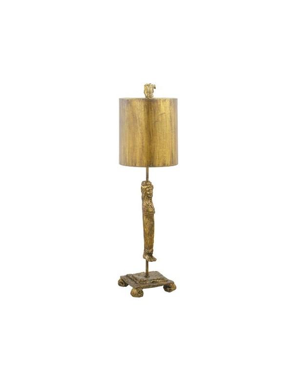 Urzekająca oprawa stołowa Caryatid Gold - Flambeau