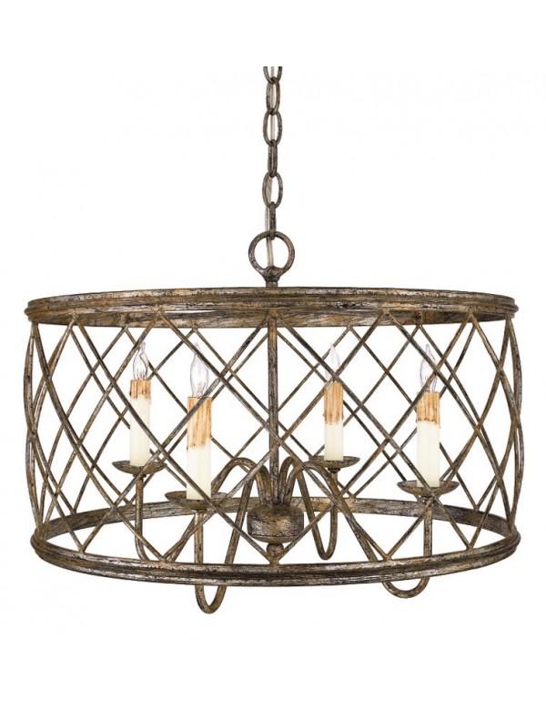 Nietuzinkowa wisząca lampa pokojowa Dury - Quoizel