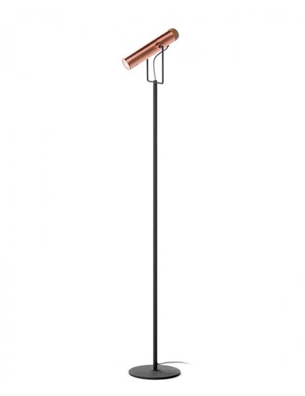 POLA lampa podłogowa z nowoczesnym kloszem miedzianym - Zuma Line