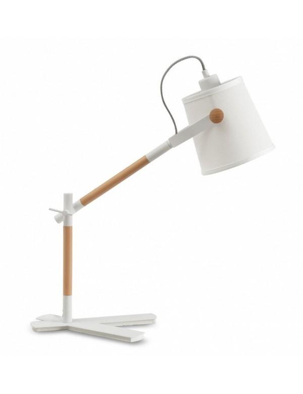 NORDICA LS stołowa lampa z drewnianymi wstawkami - Zuma Line