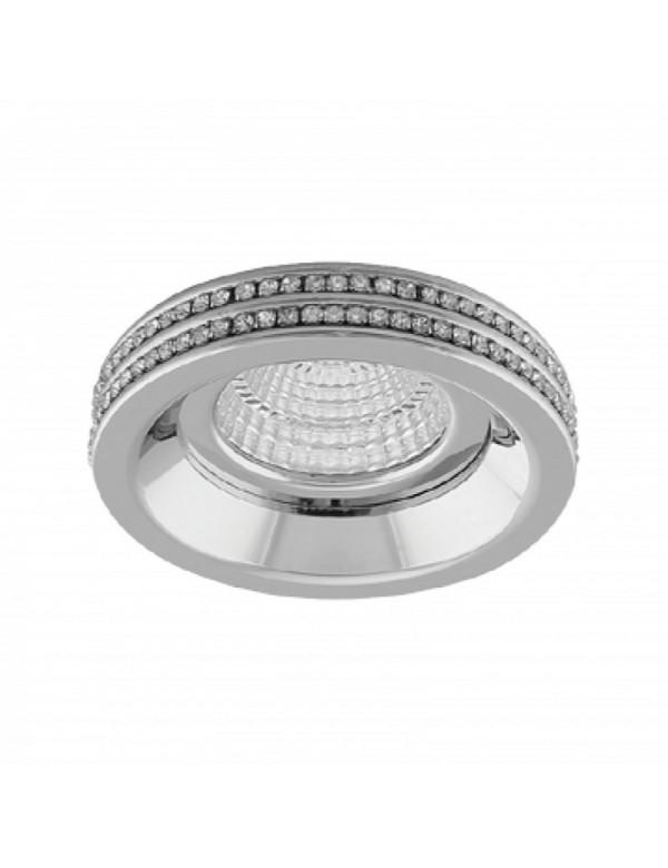 EVA ROUND oczko stropowe z elementami kryształowymi - Azzardo