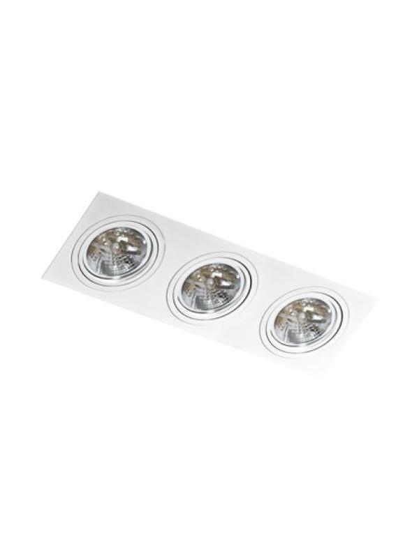 Trzy oczka w oprawie wpustowej typu downlight SIRO 3 - Azzardo