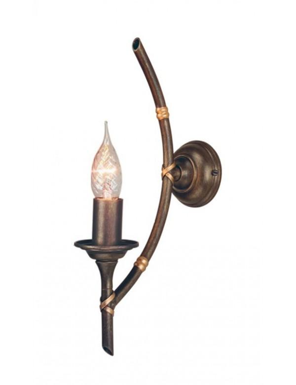 Urokliwy pojedynczy kinkiet pokojowy Bamboo 1lt - Elstead Lighting