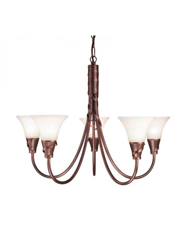 Antyczna lampa wisząca Emily 5lt - Elstead Lighting