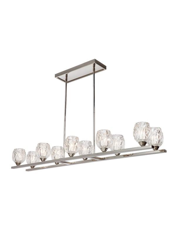 RUBIN ISLE lampa wisząca z dwoma rzędami szklanych kloszy - Feiss