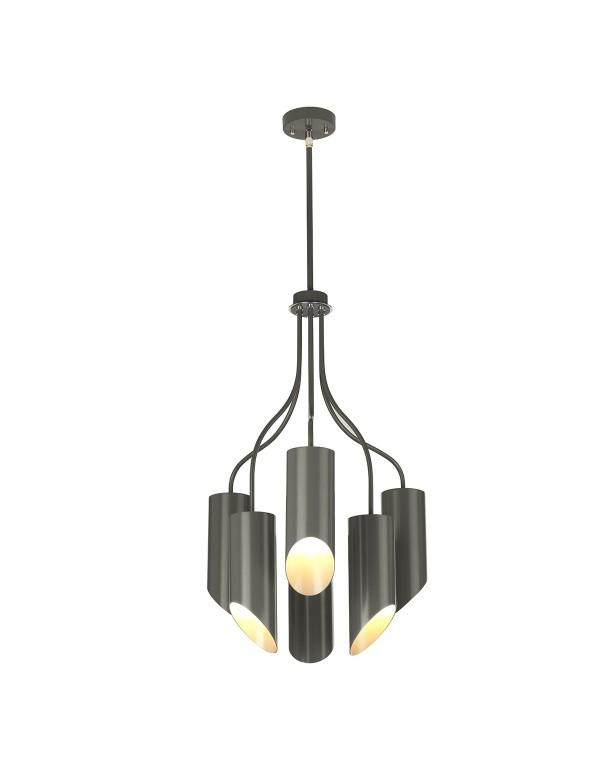 Lampa wisząca QUINTO 6 w nowoczesnej formie - 2 kolory - Elstead