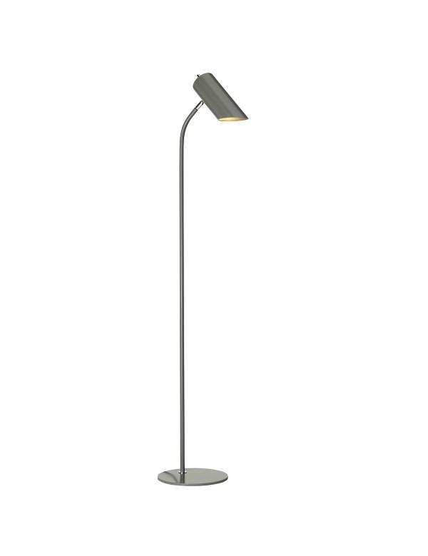Podłogowa lampa QUINTO FL z kloszem w kształcie ściętej tuby - Elstead