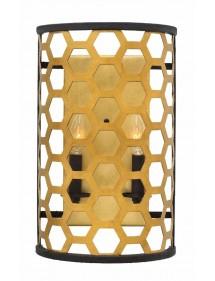 Półokrągły kinkiet heksagonalny FELIX 2 w złotym kolorze - Hinkley