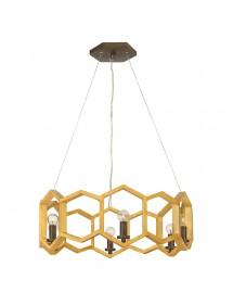 MOXIE 6P lampa wisząca ze złotymi sześciokątami - Hinkley