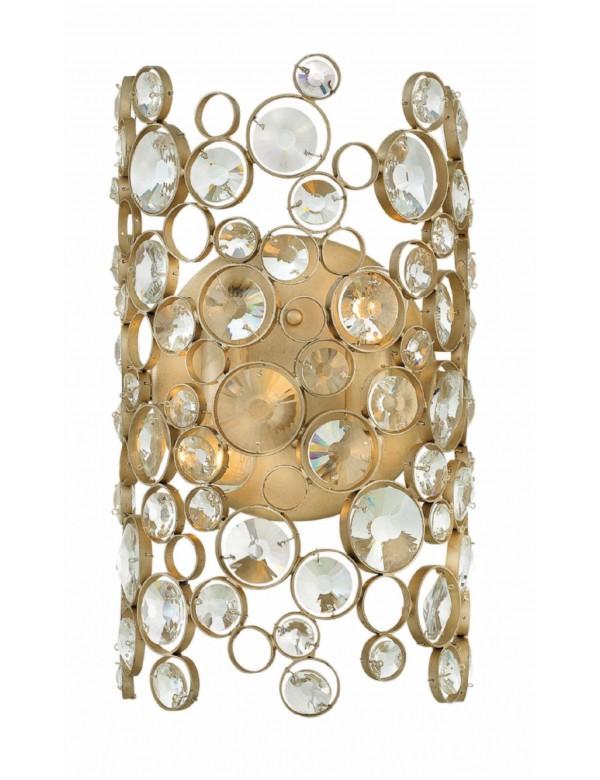 Luksusowy kinkiet ANYA 2 z błyszczącymi oczkami z kryształu- Hinkley