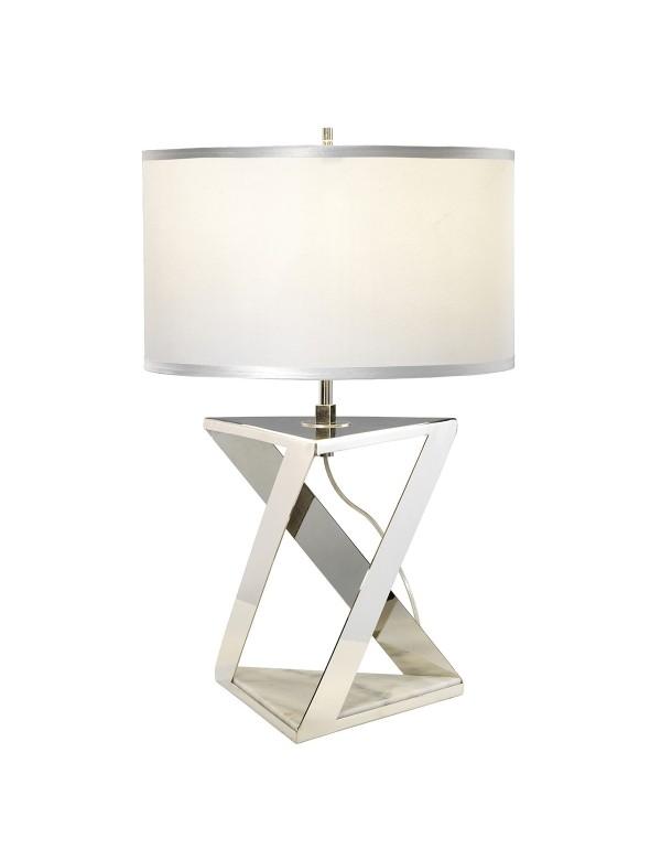 Lampa stołowa AEGEUS geometryczna bryła z marmurową podstawą - Elstead
