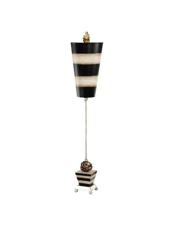PEONY lampa z  rzeźbioną piwonią i odwróconym abażurem - Flambeau
