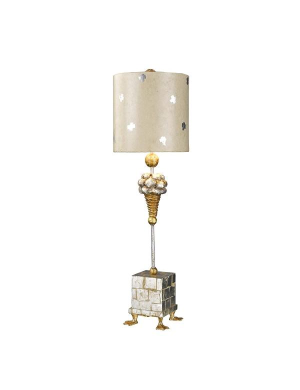 Lampa stołowa z profilowanymi nóżkami kaczymi POMPADOUR X - Flambeau