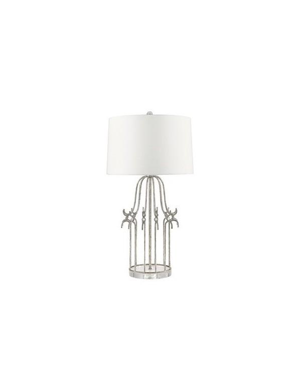 Stołowa lampa STELLA klatka jako podstawa Silver / Gold - Gilded Nola