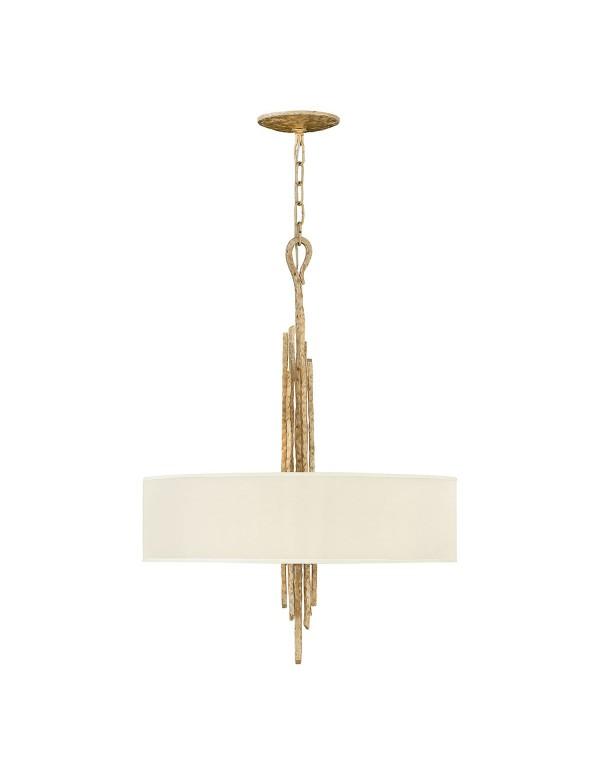 Ręcznie kuta lampa wisząca SPYRE 6P z wąskim abażurem - Hinkley