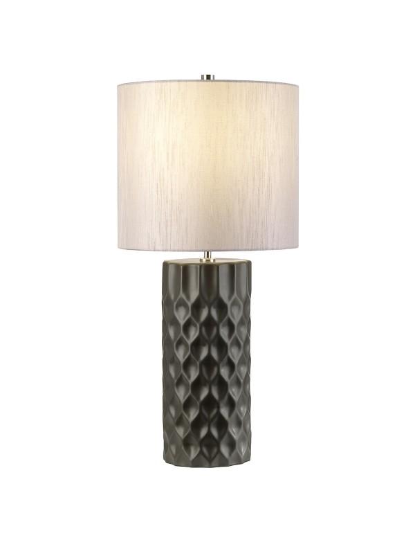 BARBICAN TL urzekająca lampa na stół z rzeźbioną podstawą- Elstead