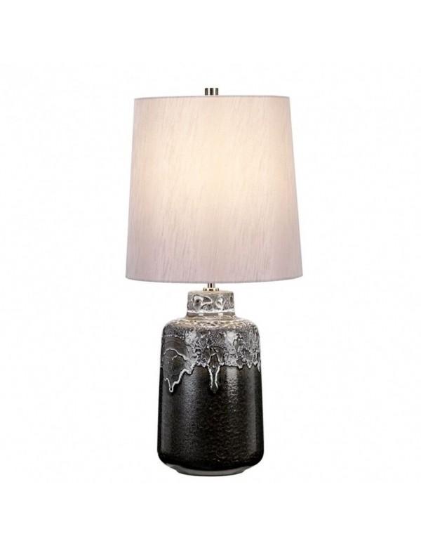 WOOLWICH/TL stołowa lampa z czarną teksturowaną powierzchnią - Elstead