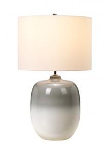 Lampka nocna CHALK FARM TL biała baza przechodząca w szarość - Elstead