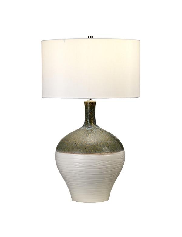 EDEN PARK/TL lampa stołowa o fakturze z zagłębieniami - Elstead