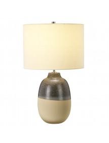 GRANGE PARK stołowa lampa z cylindrycznym kremowym abażurem - Elstead