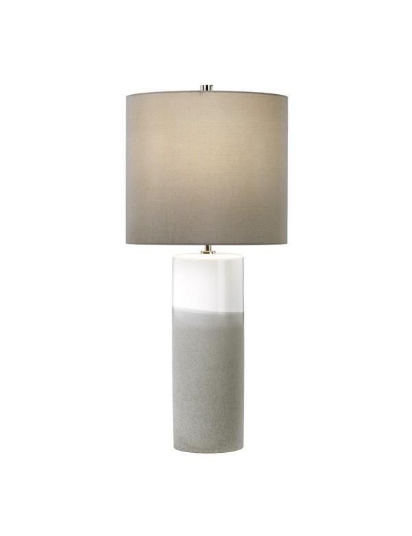 FULWELL TL dwukolorowa lampa stołowa z ceramiczną podstawą - Elstead