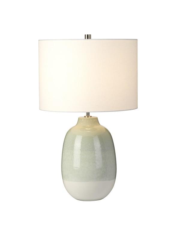 Bladozielony wazon ceramiczny - lampa stołowa CHELSFIELD TL - Elstead