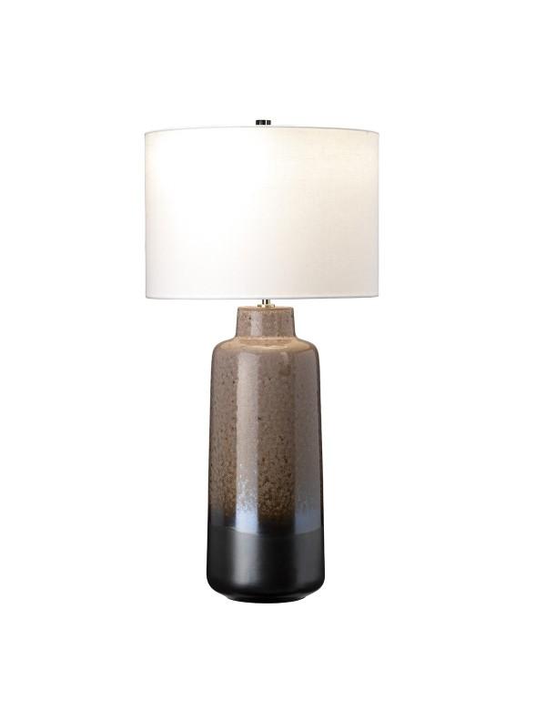 MARYLAND TL grafitowo-brązowa ceramiczna lampa stołowa - Elstead